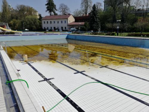 příprava bazénu
